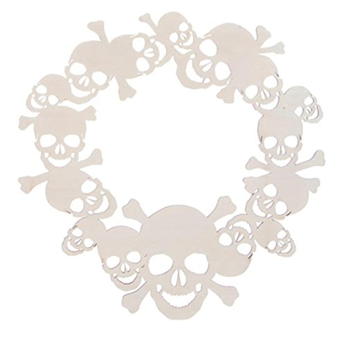 Wreaths Darice (Darice Plywood Sugar Skull Wreath: Unfinished, 16 inches)