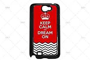 Keep Calm and dream On Samsung Galaxy Note 2 case / zigzag black stripes Galaxy Note 2 Case - 4G AArt #TM11 -AT&T, Verizon etc..