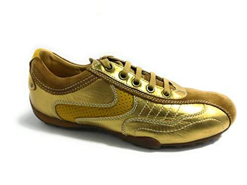 leather 0ag22 U SnakePol suede U8107u Gold Eu yellow Geox C223640 SUzqMVp