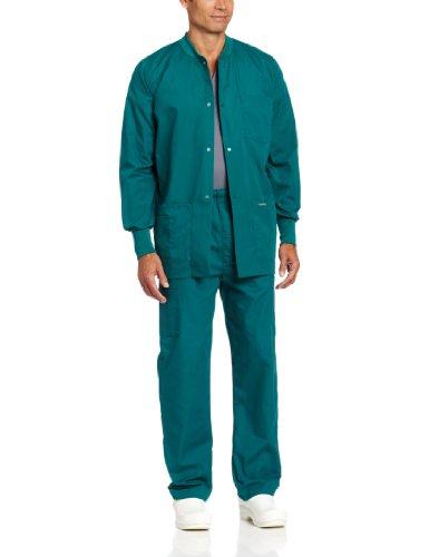 Landau Men's Warm Up Scrub Jacket, Hunter, -