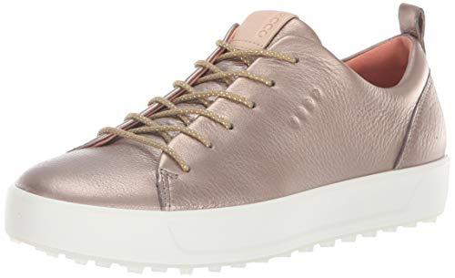 ECCO Women's Soft Low Hydromax Golf Shoe, Warm Grey/Metallic, 8 M US