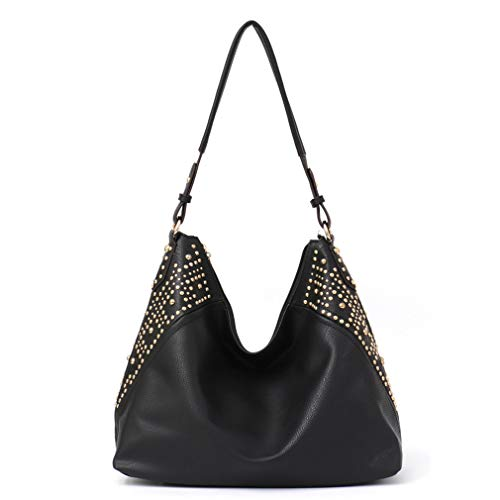 Handbag for Women Large Hobo Leather Shoulder Cross Bag Black
