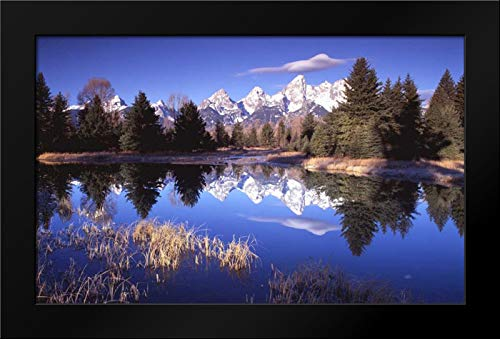 Grand Teton National Park XII 40x26 Modern Black Wood Framed Art Print by Leahy, IKE ()