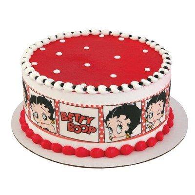 Fine Betty Boop Birthday Designer Strips Edible Icing Sheet Side Personalised Birthday Cards Veneteletsinfo