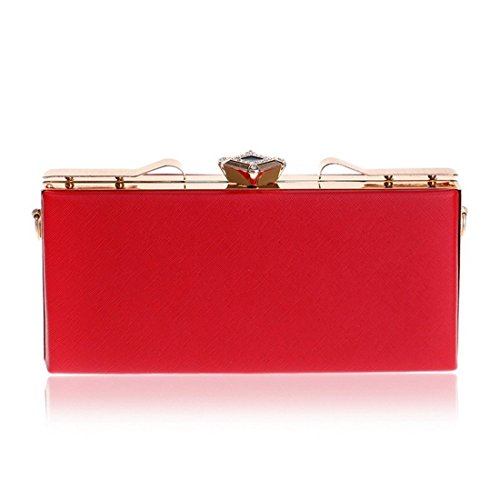 Women's Red KERVINFENDRIYUN Purse Color PU Ladies Red Crossbody Bag Handbag Clutch Shoulder Bag HpdpPfq