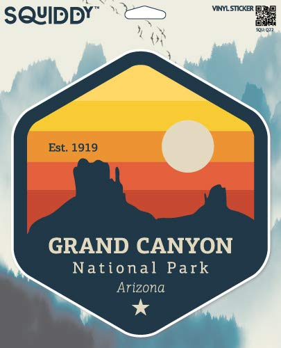 Squiddy Grand Canyon National Park Arizona - Vinyl Sticker Decal for Phone, Laptop, Water Bottle (3