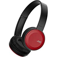 JVC HAS30BTRE Red Deep Bass Foldable Wireless Bluetooth On Ear Headphones New