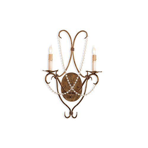 (Currey & Company Crystal Lights Wall Sconce CC-5880)