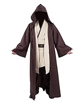 Very Last Shop Classic Movie Costume Brown Robe White Tunic and Pants Set Cosplay Outfit - Brown - US Men-M