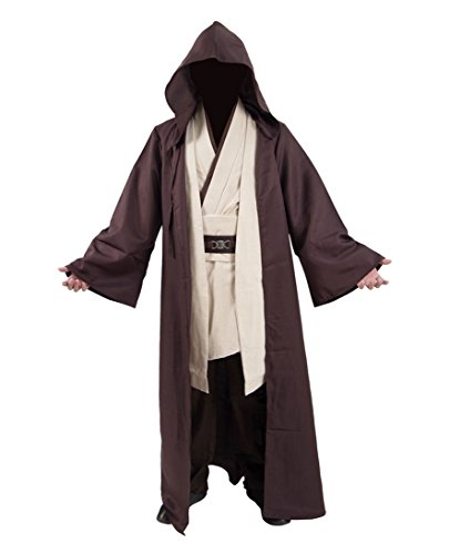 Classic Movie Costume Brown Robe White Tunic and Pants Set Cosplay Outfit (US Men-L, Brown) -