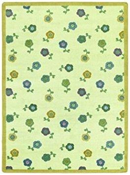 Joy Carpets Kid Essentials Infants & Toddlers Oval Awesome Blossom Rug, Soft, 3'10