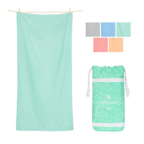 Dock & Bay Quick Dry Towel for Fitness - Rainforest Green, 78 x 35 - Yoga, Pilates & Beach - Extra Long Towel for Your Yoga mat