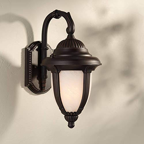 Casa Sorrento Traditional Outdoor Wall Light Fixture Bronze 14 1/2