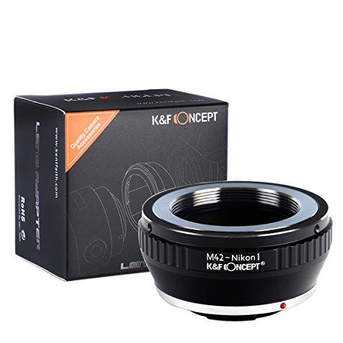 K&F Concept Lens Mount Adapter, M42 Lens to Nikon 1 Mount Camera Adapter Ring for V-1 J-1 V1 J1