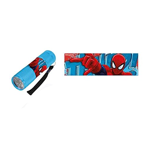(Mini LED flashlight Light Blue Spiderman)