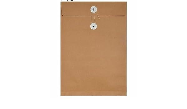 Useful Bolso Simple de Las Carteras del documento del Bolso del Papel A4 de Kraft del Estilo 50Pcs Ari_Mao: Amazon.es: Electrónica