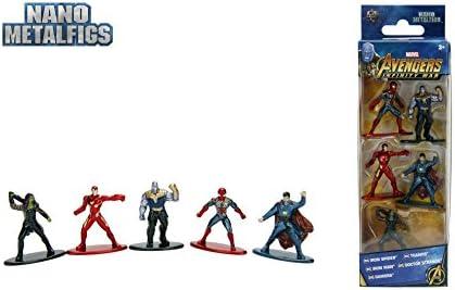 Jazwares Nano METALFIGS-Marvel Avengers Infinity War-Pack de 5 Figuras de 4 cm (Thanos, Man, Iron Spider, Dr. Strange, Gamora), 99919: Amazon.es: Juguetes y juegos