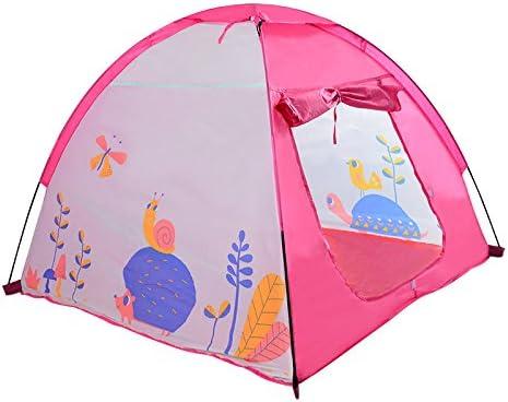 FJ Tienda de campaña de los niños simple verde y rosa de dibujos animados pequeño estilo