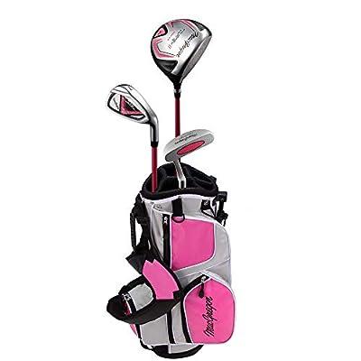 MacGregor Tourney II Junior Golf Clubs Package Set for Girls Ages 3-5 - Lefty