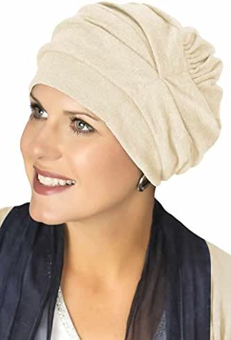 Headcovers Unlimited Trinity Turban-Caps for Women with Chemo Cancer Hair Loss Cream
