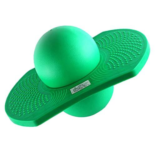 B Baosity アウトドア バランスジャンプボール 弾力性 ポゴボール スポーツ フィットネスおもちゃ 6色 - 緑