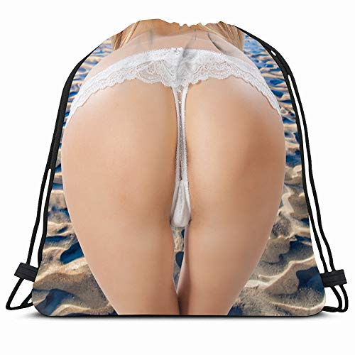 Ahawoso Drawstring Backpack String Bag 14X18 Tan Naked Adult Ass Bum Butt Asshole Backside Arsehole Beauty People Attractive Back Beautiful Black Body Sport Gym Sackpack Hiking Yoga Travel Beach