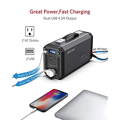 BESTEK 1000W Pure Sine Wave Power Inverter DC 12V to 110V AC Car Inverter with Digital LCD Display 4.2A Dual USB Charging Ports: Home Audio & Theater