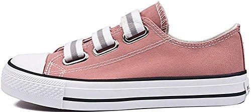 Scarpe In Tela Satuki Per Donna, Tira Su Mocassini Casual Stile Casual Moda Sneakers Rosa