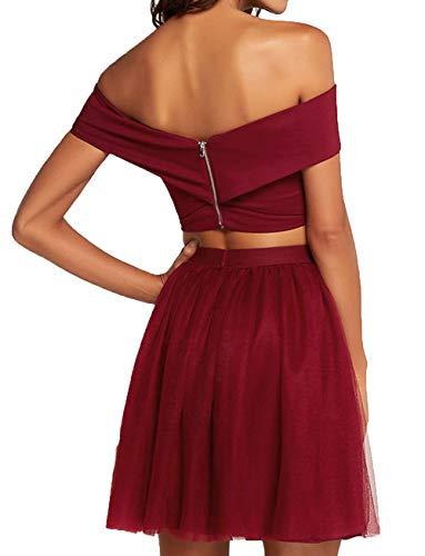 Mini Damen Charmant Zwei Mini Violett Sexy Cocktailkleider Festlichkleider teilig Abendkleider Partykleider 6H00PwrqB