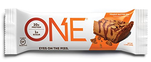 ONE Protein Bar, Peanut Butter Pie, 20g Protein, 1g Sugar, 12-Pack ( Pack May Vary ) Flight Butter