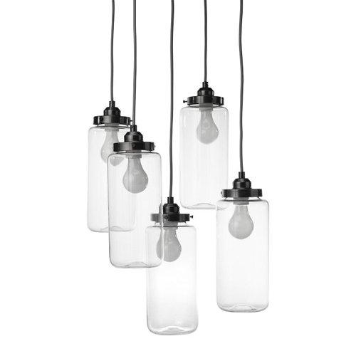 LightInTheBox 60W E27 Glass Flush Mount Light with 5 Lights Modern Home Ceiling Light Fixture Flush Mount, Pendant Light Chandeliers Lighting, Voltage=110-120V by LightInTheBox