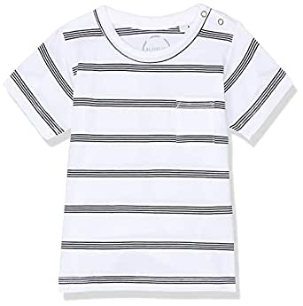 Bonds Baby Aussie Cotton Pocket Tee, Basic Stripe White/Black, 000 (0-3 Months)