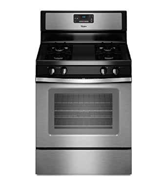 "Whirlpool WFG510S0AS 30"" Stainless Steel Gas Sealed Burner Range"