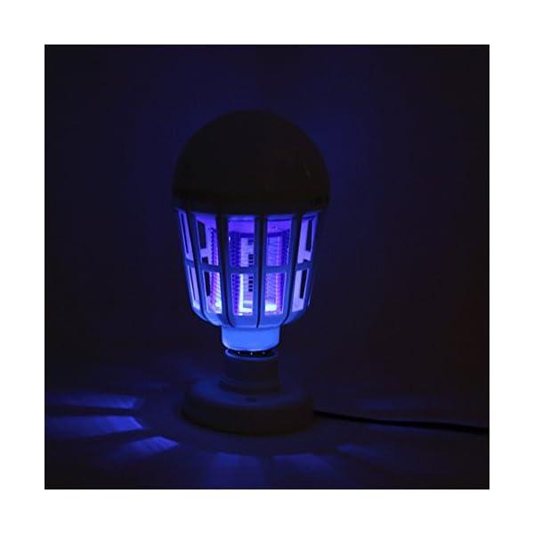 NUOVA Lampadina Anti-zanzara a LED, Mecohe 15W 1000LM 6500K Elettronico Mosca Insetto Fly Bug Zanzara Killer Bulb… 6 spesavip