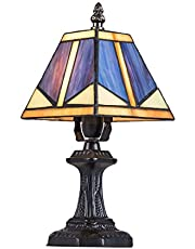 Tiffany lampy malarstwo szklane Tiffany lampa stołowa 7 cali do sypialni lampa nocna T8809