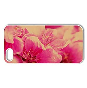 Pink Spring Flowers Watercolor style Cover iPhone 5 and 5S Case (Spring Watercolor style Cover iPhone 5 and 5S Case)