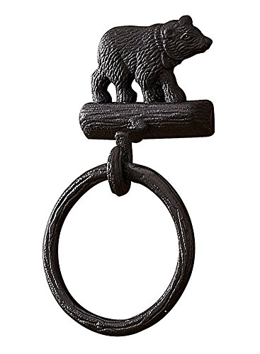 Park Designs Cast Black Bear Towel Ring Hook ()