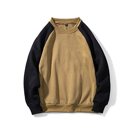 ANJUNIE Lover Pullover Autumn Winter Couple Sweater Trend Casual Stitching Sweatshirt Tops ()