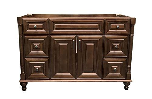 Maple Walnut solid wood Single Bathroom Vanity Base Cabinet 48