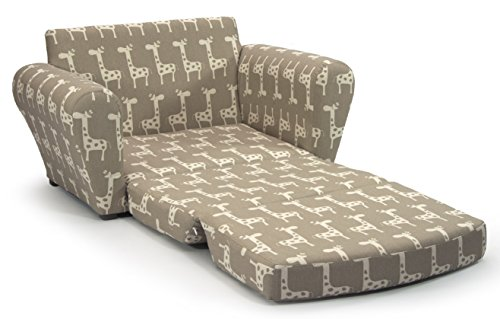 Children's Upholstered Sleepover Sofa Chair -Gender Neutral Kids Fold Out Convertible Armchair for Reading, Gaming and Slumber Parties - Two Fabric Choices for Space Saving Decorating by Fun Future (Image #1)