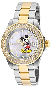 Invicta Women's Disney Limited Edition Quartz Watch with Stainless-Steel Strap, Two Tone, 9 (Model: 24752)