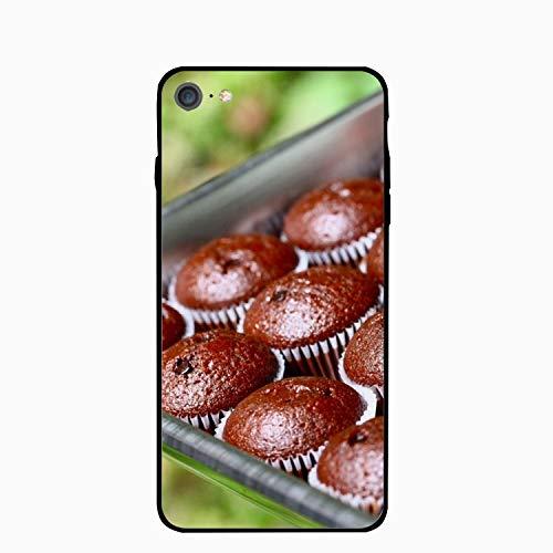 iPhone 7 Case Slim-Fit Anti-Scratch Shock Proof Print TPU Case for iPhone 7 (4.7 inch) - Fruitcake Chocolate Batch Form