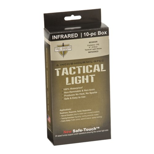 Price comparison product image TAC SHIELD Tactical 8 Hour Light Stick (10-Pack), Infrared