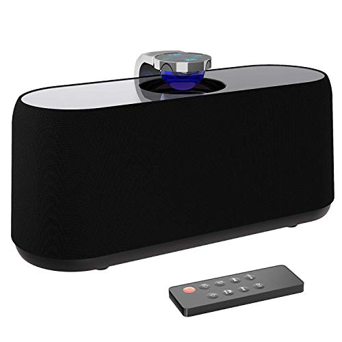 Bluetooth Speakers, BYZ Wired Home Audio Bluetooth Speaker Deep Bass Stereo Speaker Digital Home Theater Powered Subwoofer – Black