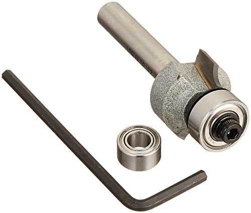 - Vermont American 23130 1/8-Inch Radius Carbide Tipped Roundover and Bead Router Bit, 2-Inch Ball Bearing 2-Flute 1/4-Inch Shank