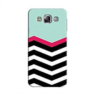 Cover It Up - Zebra in Blue Galaxy E7Hard Case