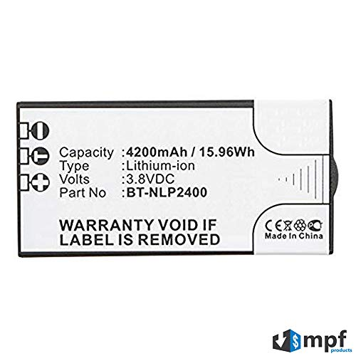 MPF Products 4200mAh High Capacity Extended BT-NLP2400 Battery Replacement Compatible with URC Universal Remote Control MX-5000 and TRC-1280 Touch Screen Remote Controls