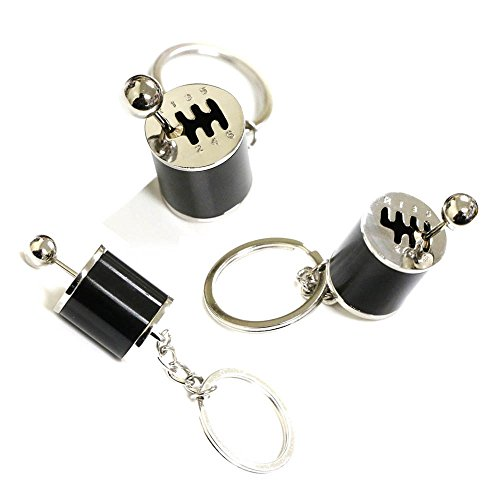 2017 Nissan Maxima Clutch - iJDMTOY Chrome Polished Alloy Metal Gear Box Shifter Shape Key Chain Ring Keychain