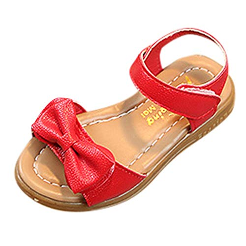 - Kids Girls Leather Summer Flower Sandals Cute Open Toe Flat Strap Shoes