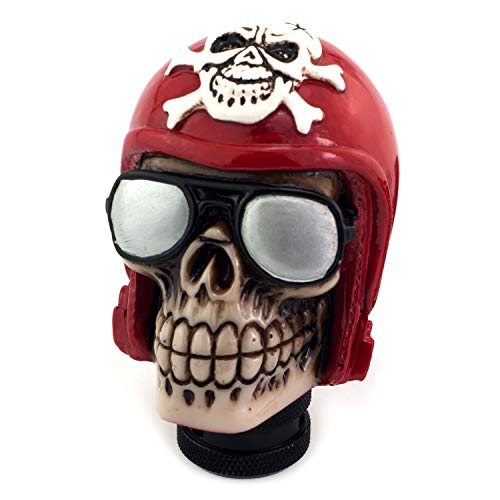 Thruifo Skull Handle Shifter Knob, Pilot Style MT Car Gear Stick Shift Head Fit Most Manual Automatic Vehicles, ()